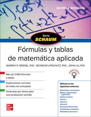 SCHAUM FORMULAS Y TABLAS DE MATEMATICA APLICADA