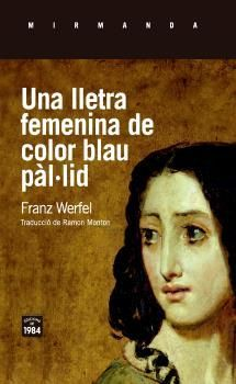 LLETRA FEMENINA DE COLOR BLAU PÀL·LID, UNA