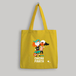 BOLSA DE TELA 'CHICAS PIRATA' - COLOR AMARILLO