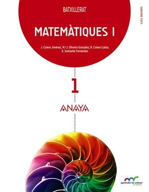MATEMATIQUES 1R.BATXILLERAT