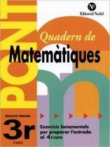 (P.FIX) QUADERN MATEMATIQUES 3 EP NADAL