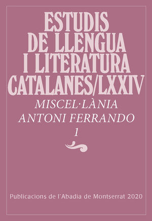 MISCEL·LANIA ANTONI FERRANDO, 1